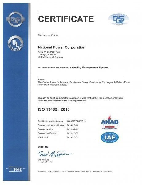 ISO 13485 2016 Certificate